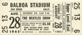 Music Memorabilia:Tickets, Beatles Balboa Stadium Concert Ticket. The Fab Four had a decidedlyanti-climatic meeting with Elvis Presley on the night be...