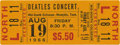 Music Memorabilia:Tickets, Beatles Mid-South Coliseum Concert Ticket. The Beatles' appearancein the Deep South aroused a lot of tension (proclaiming t...