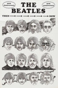 Music Memorabilia:Posters, The Beatles Tenth Anniversary Poster (1974). Exquisite pen-and-inkdrawings of the Fabs as they looked through the years are...