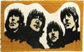 "Music Memorabilia:Memorabilia, Beatles Rug. Small, 27"" x 17"" throw rug, circa 1978, featuring thelikenesses of John, Paul, George, and Ringo. In Excellent..."
