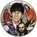 "Music Memorabilia:Autographs and Signed Items, Ringo Starr Signed Commemorative Plate Artist Proof. A 10""commemorative plate by Gartlan USA, one of 250 artists proofs,si..."