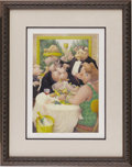 """Music Memorabilia:Memorabilia, Beatles """"Piggies"""" Limited Edition Print Signed by George Harrison and Keith West, 196/600 (undated). This museum-quality art..."""