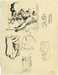 "Music Memorabilia:Original Art, Stuart Sutcliffe Sketch. Regularly referred to as ""The FifthBeatle"" often credited with naming the band, Stuart Sutcliffe w..."