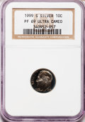 Proof Roosevelt Dimes: , 1999-S 10C Silver PR69 Ultra Cameo NGC. NGC Census: (2828/535).PCGS Population (3027/177). Numismedia Wsl. Price for prob...