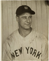Late 1930's Lou Gehrig Signed Photograph