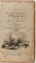 Books:Literature Pre-1900, Robert Burns. The Poetical Works. M. Angus, 1802. Twelvemo.Contemporary leather. Good....