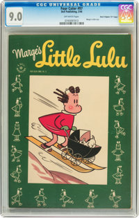 "Four Color #97 Marge's Little Lulu - Davis Crippen (""D"" Copy) pedigree (Dell, 1946) CGC VF/NM 9.0 Off-white pa..."