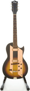Musical Instruments:Electric Guitars, 1960's Kay Value Leader Sunburst Solid Body Electric Guitar....