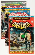 Bronze Age (1970-1979):Horror, Tomb of Dracula Group (Marvel, 1972-94) Condition: Average FN+....(Total: 6 Comic Books)