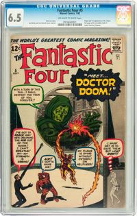 Fantastic Four #5 (Marvel, 1962) CGC FN+ 6.5 Off-white to white pages