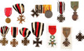 Military & Patriotic:WWI, Large Lot of German and French WWI Medals.... (Total: 12 Items)