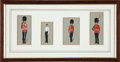Military & Patriotic:Foreign Wars, Paintings: [Richard Simkin] Set of Four Military Watercolors,...