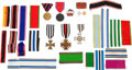 Military & Patriotic:WWI, Small Lot of Imperial German Medals and Giant Lot of ImperialGerman Ribbons.... (Total: 4 )