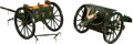 Military & Patriotic:WWI, Diecast Model of a British 18 Pounder Field Gun With Limber....(Total: 2 Items)