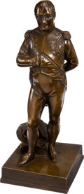 Military & Patriotic:Foreign Wars, Napoleon I Bronze After Jean-Auguste Barré....