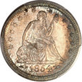 Seated Quarters, 1854 25C Arrows MS64 PCGS. CAC....
