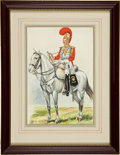 Military & Patriotic:Foreign Wars, Painting: Percy White: Mounted 1st Life Guard Trumpeter,...