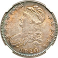 Bust Half Dollars, 1820/19 50C Square Base 2 MS64 NGC. O-101, R.2....