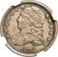 Bust Dimes, 1834 10C Large 4 MS64 NGC. JR-1, R.1....