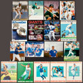 Autographs:Bats, 1980's Baseball Stars Signed Photographs Lot of 8 and CubsScorecards/Programs Lot of 9....
