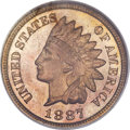 Proof Indian Cents, 1887 1C PR66 Red NGC....