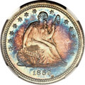 Proof Seated Quarters, 1859 25C PR67 ★ NGC....