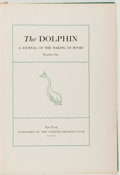 Books:Books about Books, The Dolphin: A Journal of the Making of Books. No. 1. Limited Editions Club, 1933. Quarto. No dust jacket. Very good...
