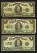 Canadian Currency: , DC-25j $1 1923 Three Examples. ... (Total: 3 notes)
