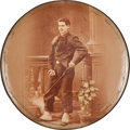 Military & Patriotic:WWI, Celluloid Portrait Plaque of a WWI French Zouave....