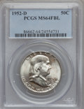 1952-D 50C MS64 Full Bell Lines PCGS. PCGS Population (2135/692). NGC Census: (589/266). Numismedia Wsl. Price for probl...