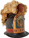 Military & Patriotic:Pre-Civil War, Probably the Finest Early Federal Period New England Militia Helmet to Appear on the Open Market Since the Sale of the Iconic ...