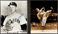 Autographs:Photos, Whitey Ford And Bob Feller Signed Oversized Photographs With HOFInscriptions....