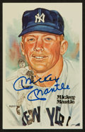 Autographs:Post Cards, Mickey Mantle Signed Perez Steele Postcard. ...
