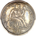 Seated Dimes, 1863 10C MS63 PCGS....