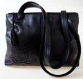Luxury Accessories:Bags, Chanel Black CC Lambskin Leather Shoulder Bag. ...