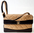 Luxury Accessories:Bags, Chanel Beige and Black Lambskin Leather Flap Bag. ...
