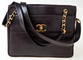 Luxury Accessories:Bags, Chanel Black Lambskin Leather Oversized Tote with Gold Hardware....