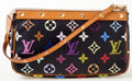 Luxury Accessories:Bags, Louis Vuitton Black Monogram Multicolore Pochette. ...