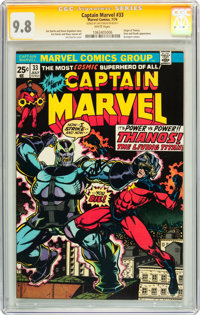 Captain Marvel #33 Signed by Jim Starlin (Marvel, 1974) CGC Signature Series NM/MT 9.8 White pages