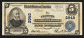 National Bank Notes:Nebraska, Fremont, NE - $5 1902 Plain Back Fr. 598 The Fremont NB Ch. # 2848....
