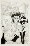 Original Comic Art:Splash Pages, Tom Derenick Wolverine Captain America #3 Pencil Splash Page22 Original Art (Marvel, 2004)....