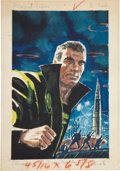Original Comic Art:Miscellaneous, Emsh (Edmund Emshwiller) The Invaders Are Coming PaperbackCover Preliminary Original Art (c. 1959)....