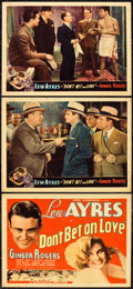 "Movie Posters:Comedy, Don't Bet on Love (Universal, 1933). Title Lobby Card and LobbyCards (2) (11"" X 14"").. ... (Total: 3 Items)"