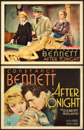"""Movie Posters:Drama, After Tonight (RKO, 1933). Title Lobby Card and Lobby Card (11"""" X 14"""").. ... (Total: 2 Items)"""