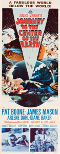 "Movie Posters:Science Fiction, Journey to the Center of the Earth (20th Century Fox, 1959). Insert(14"" X 36"").. ..."