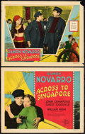 "Movie Posters:Drama, Across to Singapore (MGM, 1928). Title Lobby Card and Lobby Card (11"" X 14"").. ... (Total: 2 Items)"