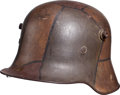 Military & Patriotic:WWI, WWI German Model 1917 Camouflage Helmet....