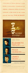 "Movie Posters:Drama, Giant (Warner Brothers, 1956). Insert (14"" X 36"").. ..."