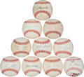 Baseball Collectibles:Balls, Baseball Greats Single Signed Baseballs Lot of 10....