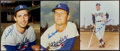 Baseball Collectibles:Photos, Sandy Koufax, Don Drysdale and Duke Snider Signed Photographs Lotof 3....